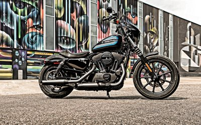2019, Harley-Davidson Iron 1200, exterior, side view, new black Iron 1200, american motorcycles, Harley-Davidson