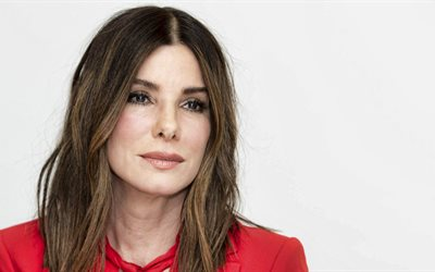 Sandra Bullock, face, american actress, red dress, photoshoot, portrait