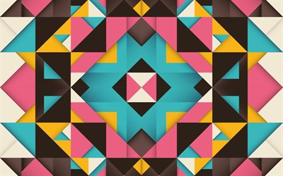 material design, mosaic, retro abstract art, geometry, lines, geometric shapes, lollipop, triangles, creative, strips, colorful backgrounds