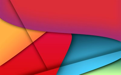 colorful backgrounds, material design, abstract waves, geometric shapes, lollipop, lines, creative, abstract art