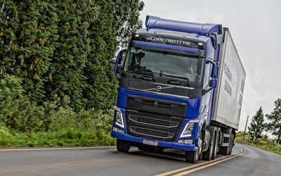 Volvo FH, 2019, exterior, new blue FH, front view, delivery truck concepts, swedish trucks, Volvo