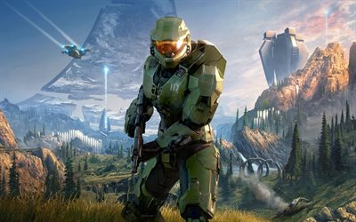 Halo Infinite, 2020, juliste, mainosmateriaalit, hahmot, 343 Industries