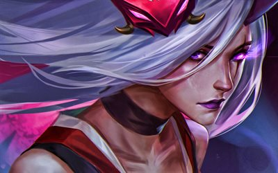 Katarina, MOBA, warriors, League of Legends, 2020 games, Legends of Runeterra, artwork, Katarina League of Legends