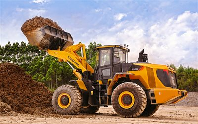 LiuGong CLG 856H, front loader, 2020 tractors, construction machinery, loader in career, special equipment, construction equipment, LiuGong, HDR